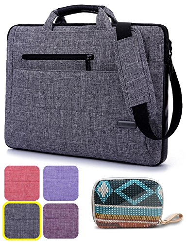 Laptop Bag with Gorgeous Accessory Bag, BRINCH? Multi-functional Suit Fabric Portable Laptop Carrying Bag /Shoulder Laptop Bag / Notebook Computer Sleeve Case Bag