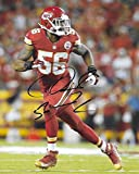 Derrick Johnson, Kansas City Chiefs, Signed, Autographed, 8x10 Photo, a COA with the Proof Photo of Derrick Signing Will Be Included..