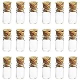 ゴシレ Gosear 50 個 0.5ML ミニ 詰め替え 空のグラス 香水 エッセンシャル オイルのガラス 旅行 香水 ガラス 香水瓶 化粧水用瓶 バイアル瓶コンテナー と コルク栓