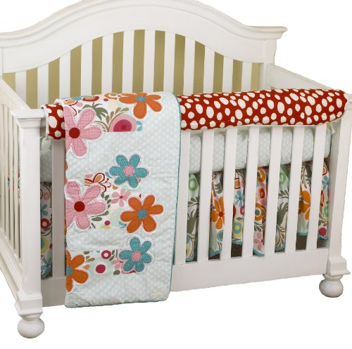 Cotton Tale Designs Front Crib Rail Cover Up Set, Lizzie - 1