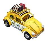 【abaroz】イエロー タクシー Yellow Taxi レトロ クラッシック ブリキ カー ビートルタイプ フォトフレーム ペンスタンド お洒落 インテリア アンティーク ダメージ加工