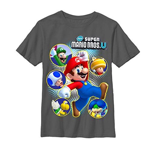 Nintendo New Super Mario Bros U Boys M Graphic T Shirt