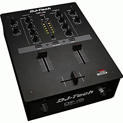 DJTECH DIF1S DJ Scratch Mixer by DJ Tech Pro USA, LLC