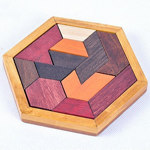 KINGOU Child Intelligence platter Jigsaw Toy Wooden Toys Shape Puzzle Unlock Wisdom Puzzles