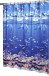 Ex-Cell Home Fashions Sea Life Shower Curtain Blue