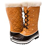 GW Women's 1560-4 Snow Boots (7.5, Wheat/Black)