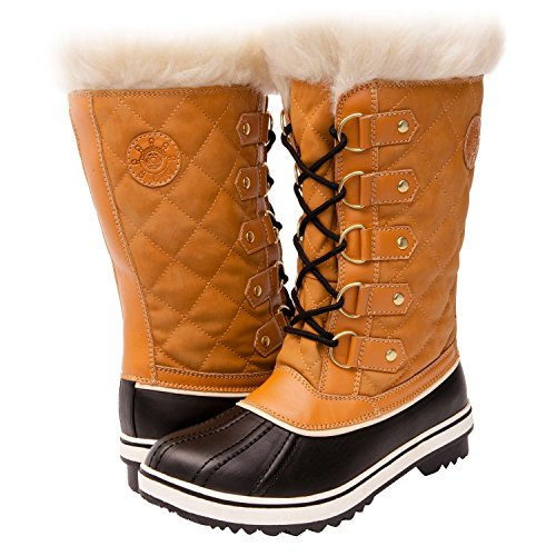 GW Women's 1560-4 Snow Boots (7, Wheat/Black)