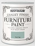 Rust-Oleum Chalk Furniture Paint Duck Egg Blue 750ml