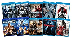 Marvel Bundle (The Wolverine, X-Men Origins: Wolverine, X-Men, X-Men 2, X-Men 3, X-Men First Class, Fantastic Four, Fantastic Four 2, Daredevil, Elektra) [Blu-ray]