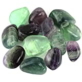"Crystal Allies Materials: 1/2lb Bulk Tumbled Fluorite Stones from China - Large 3/4"" to 1"" Polished Natural Crystals for Reiki Crystal Healing *Wholesale Lot*"