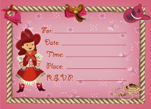 Dolce Mia Horsey Girl Party Invitation Party