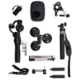 Osmo with Sport Accessory Kit, Includes 2 Batteries, FlexMic, Extension Rod,Bike Mount,Tripod,Vehicle Mount, Straight Extension Arm, Osmo Base, Camrise Lanyard and Camrise USB Reader (Color: Black)