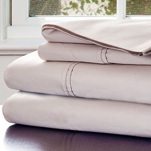 Lavish Home 1000 Thread Count Cotton Sateen Sheet Set, King Champagne front-856686