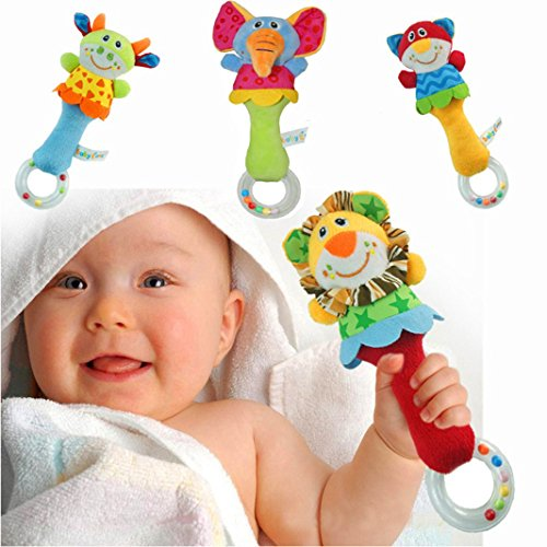 4-Packs-Here-Shine-Developmental-Baby-First-Rattle-Toy-Soft-Plush-Animal-Style-For-Infant-or-Baby-Boys-Girls-Cow-Elephant-Lion-Cat
