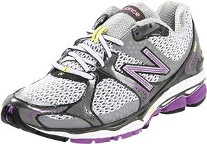 New Balance Women's W1080 Running Shoe,Silver/Purple,9 B US