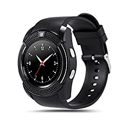 Bingo C6-Black Smartwatch With Heart Rate Monitoring, Bluetooth and Sim Enabling Features and more....