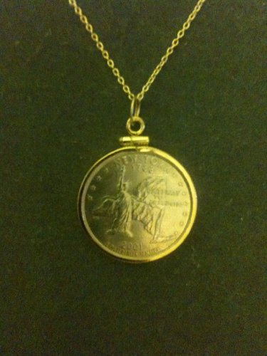 Ny State Coin Pendant
