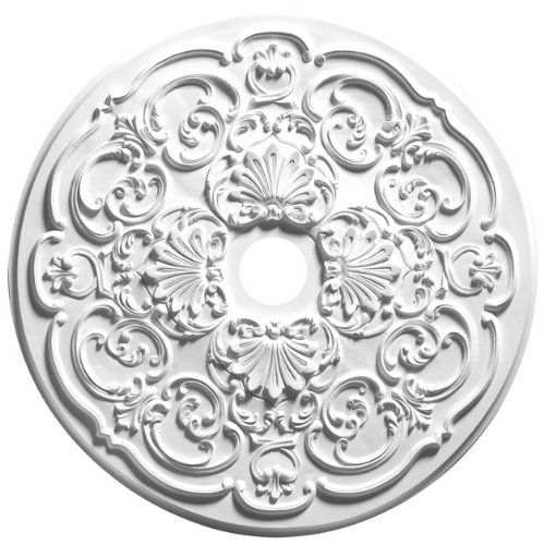 Focal Point 28 Inch Diameter Ceiling Medallion 81028 Stephanie Primed White Polyurethane