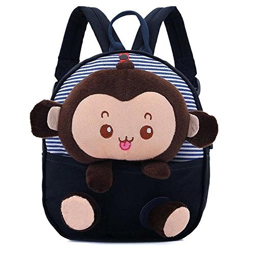 Your Gallery Baby's Cute 3D Monkey Little Backpack Plush Bag for Toddlers Kids, navy - 1