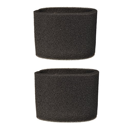 HQRP 2-pack Small Foam Filter Sleeve for Shop-Vac HangUp, HangUp Pro, Bulldog Auto / Garage series Vacs Wet / Dry Vacuums + HQRP Coaster (Vacuum Filter Bag 2 Gallon compare prices)