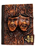 Embossed Happy Sad Drama Mask Vintage Style Handmade Leather Amazon Kindle Cover Case For Kindle Touch - Kindle 4 - Kindle 5 - Kindle Paperwhite