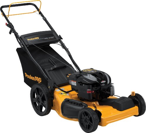 Poulan Pro PR625Y22RKP 22-Inch 190cc Briggs & Stratton 625 Series Gas Powered Side Discharge/Mulch/Bag FWD Self Propelled Lawn Mower With Electric Start