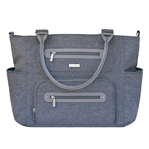 JJ Cole Caprice Diaper Bag, Gray Heather