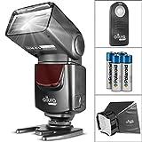 Altura Photo AP-UNV1 Bundle - DSLR Camera Flash Speedlite for Canon Nikon