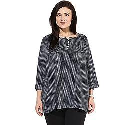 Alto Moda by Pantaloons Women's Tunic 205000005577093_Navy Blue_4