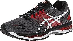 ASICS Men\'s Gel-Nimbus 17 Running Shoe,Carbon/White/Black,8.5 M US