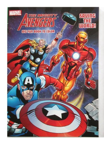 "Marvel Mighty Avengers 96 pg Coloring & Activity Book ""Saving The World"""