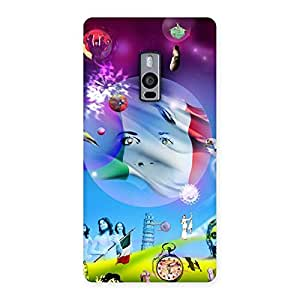 Delighted Wonder World Multicolor Back Case Cover for OnePlus Two