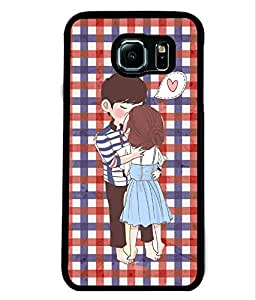 PrintVisa Metal Printed Love Designer Back Case Cover for Samsung Galaxy S6 G920I-D4711