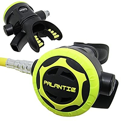 "Scuba Choice Palantic AS206 Black/Yellow Second Stage Regulator Octopus with 36"" 350PSI Hose"