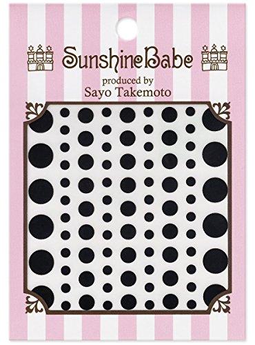 SunshineBabe ネイルシール ドット 黒 mix