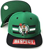 Boston Celtics Flat Visor Billboard Style Snapback Hat Cap Green Black [Apparel]