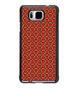 iFasho Modern Art Design Pattern with Lot Of small heart Back Case Cover for Samsung Galaxy Alpha