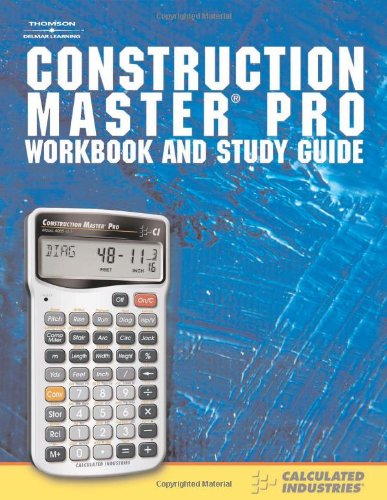 Construction Master Pro Workbook and Study Guide - Cengage Learning - RC-CI2140 - ISBN: 1418041092 - ISBN-13: 9781418041090
