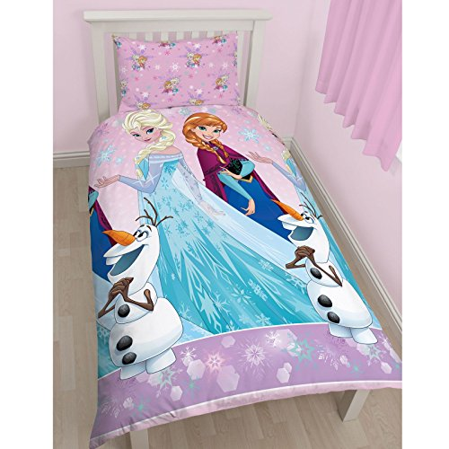 "Character World Disney - Set con copripiumino per letto singolo, motivo ""Frozen Magic"", multicolore"