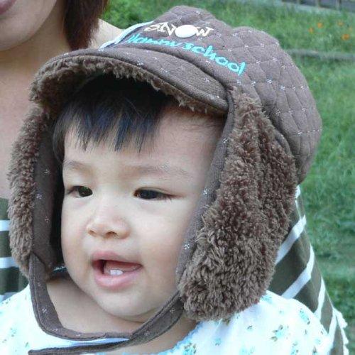 【早期セール在庫限り50%】可愛いベビー帽子!ブラウン【ニット帽子】【ニット帽】【キッズ 帽子】【キッズ 帽子 女の子】