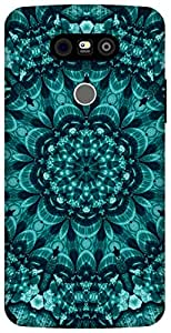The Racoon Lean cyan shell mandala hard plastic printed back case / cover for LG G5