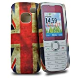 Accessory Master Plastic Case for Nokia C1-01 with Vintage Union Jack Design