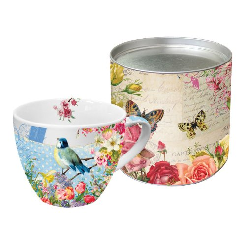 Paperproducts Designs 18-Ounce Mug in Gift Box, X-Large, Vintage Bird