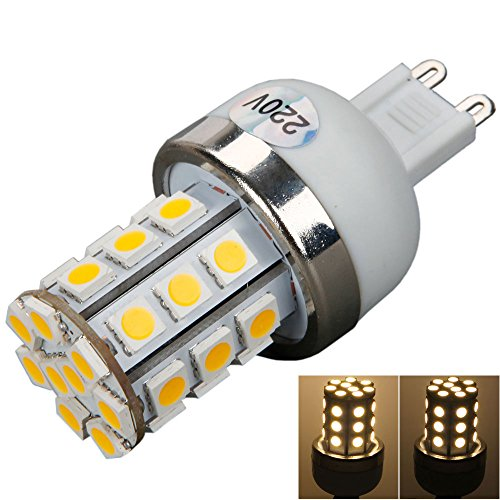 G9 220V 5W 450Lm 30Led 3000K Warm White Light Led Corn Light Bulb Lamp With Silver Side
