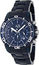 ARMANI EXCHANGE MENS ALUMINIUM WATCH AX1209 CHRONONOGRAPH BLUE DIAL
