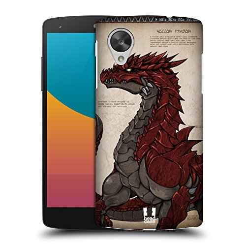 Head Case Designs Red-scaled Dragons Protective Snap-on Hard Back Case Cover for LG Google Nexus 5 D820 D821