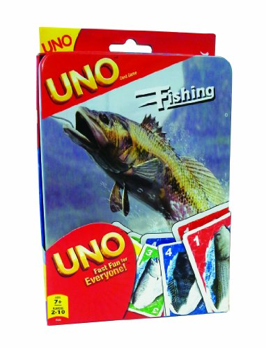 Fishing UNO Tin Card Game