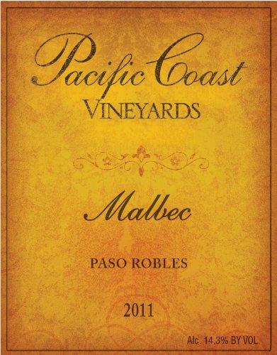 2011 Pacific Coast Vineyards Paso Robles Malbec 750 Ml