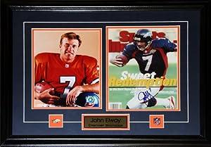 John Elway Denver Broncos Signed 2 Photo Frame by Midway Memorabilia