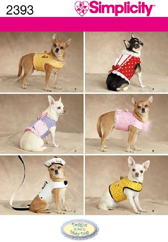 Best Review Of Simplicity Sewing Pattern 2393 Dog Clothes, A (XXS-XS-S-M)